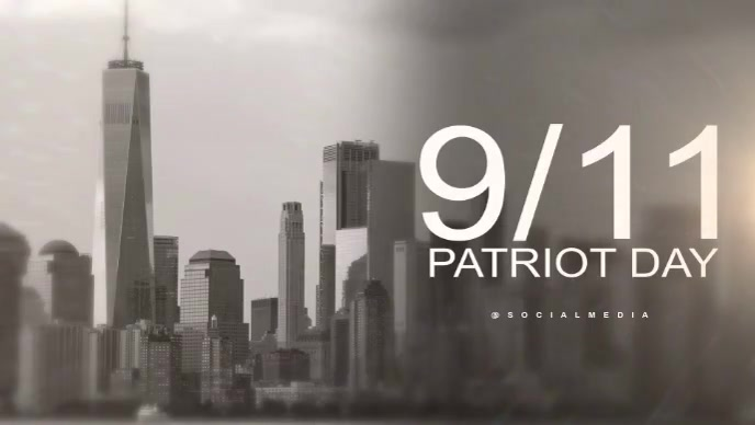 Patriot day. we will never forget template Facebook-covervideo (16:9)