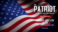 Patriotic 4th Of July Facebook Video Ikhava Yevidiyo ye-Facebook (16:9) template