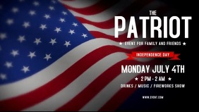Patriotic 4th Of July Flyer Facebook 封面视频 (16:9) template