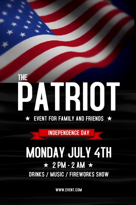 Patriotic 4th Of July Flyer Poster template
