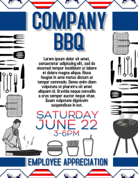 patriotic bbq flyer template