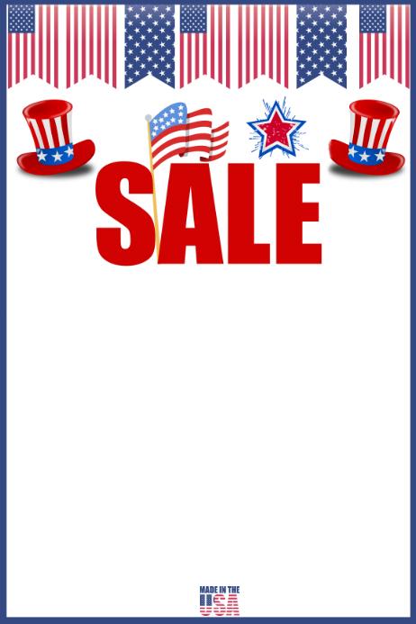 Patriotic Sale Template