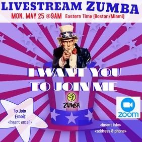 Patriotic Zumba Instagram Post template