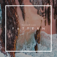 Pattern Beach CD Cover Music template