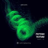 Pattern Texture Abstract Light Music CD Cover Обложка альбома template