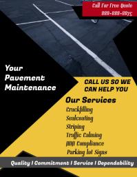 Pavement Maintenance Service Flyer template