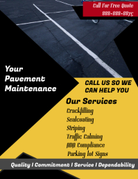 Pavement Maintenance Service Flyer template