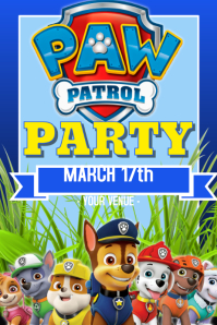 Paw Patrol Party Event Flyer