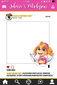 Paw Patrol Party Prop Frame