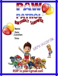 Paw Patrol Party Video Flyer