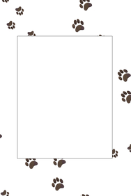 Paw Print Party Prop Frame