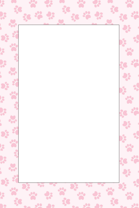paw print party prop frame template postermywall