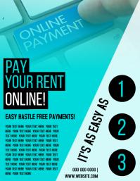 Pay Rent Online template Folheto (US Letter)