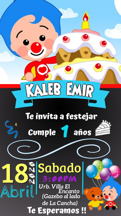 Payaso Plim Plim Estado de WhatsApp template