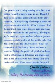 Paying It Forward: Testimony From Author Shellie Palmer