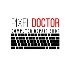 PC Laptop Repair Shop logo template