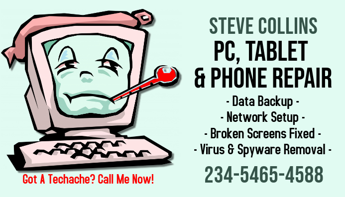 PC Repair Business Card