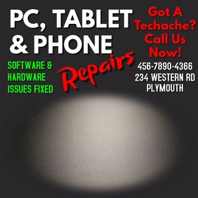 PC Tablet Phone Repair Services Video Template