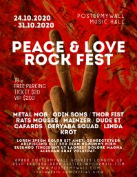 Peace & Love Rock Fest Event Flyer Template