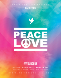 PEACE AND LOVE Flyer Template