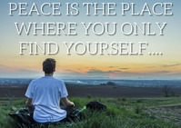 PEACE AND PLACE QUOTE TEMPLATE A6