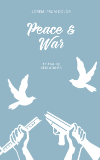 Peace and war book cover template