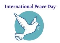 Peace day Postcard template