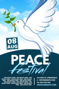Peace Festival Poster template