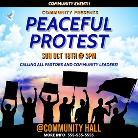PEACEFUL PROTEST FLYER TEMPLATE Albumcover