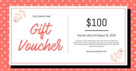 Peach and White Gift Voucher