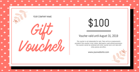 Peach and White Gift Voucher