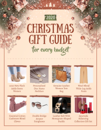 Peach Christmas Gift Guide Flyer ใบปลิว (US Letter) template
