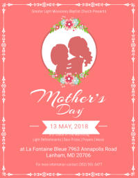 Peach Mothers Day Flyer Template