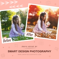 Peach Photography Before/After Instagram Imag template