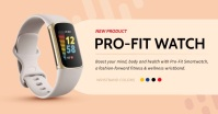 Peach Smart Watch Product Display Facebook Im template