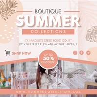 Peach Summer Fashion Boutique Instagram Video template