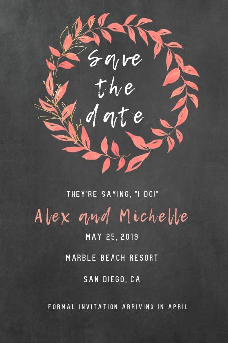 Peachy Save The Date Invite