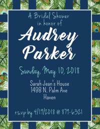 Peacock Bridal Shower