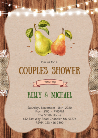 Pear couples shower invitation
