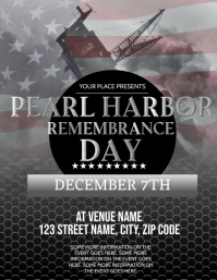 Pearl Harbor Day event Flyer Template