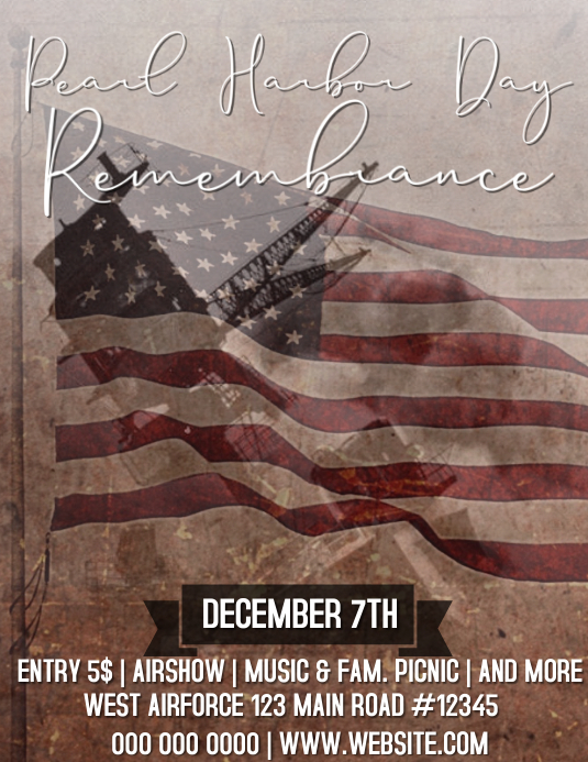 Pearl Harbor Remembrance Day Event Template