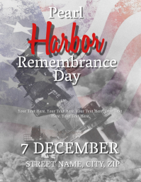 Pearl Harbor Remembrance Day Flyer Template