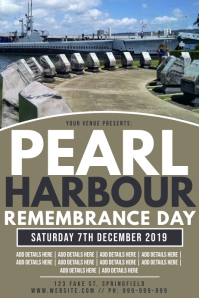 Pearl Harbour Remembrance Day Poster