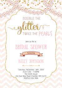 Pearls baby shower invitation