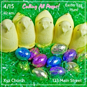 Peeps Easter Egg Hunt Instagram Post template