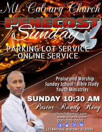 Penecost Sunday Flyer (US Letter) template