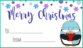Penguin Christmas Tag