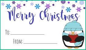 Penguin Christmas Tag