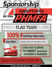 Penn Hills Midget football association Flyer (US Letter) template