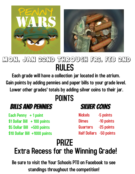 penny wars template